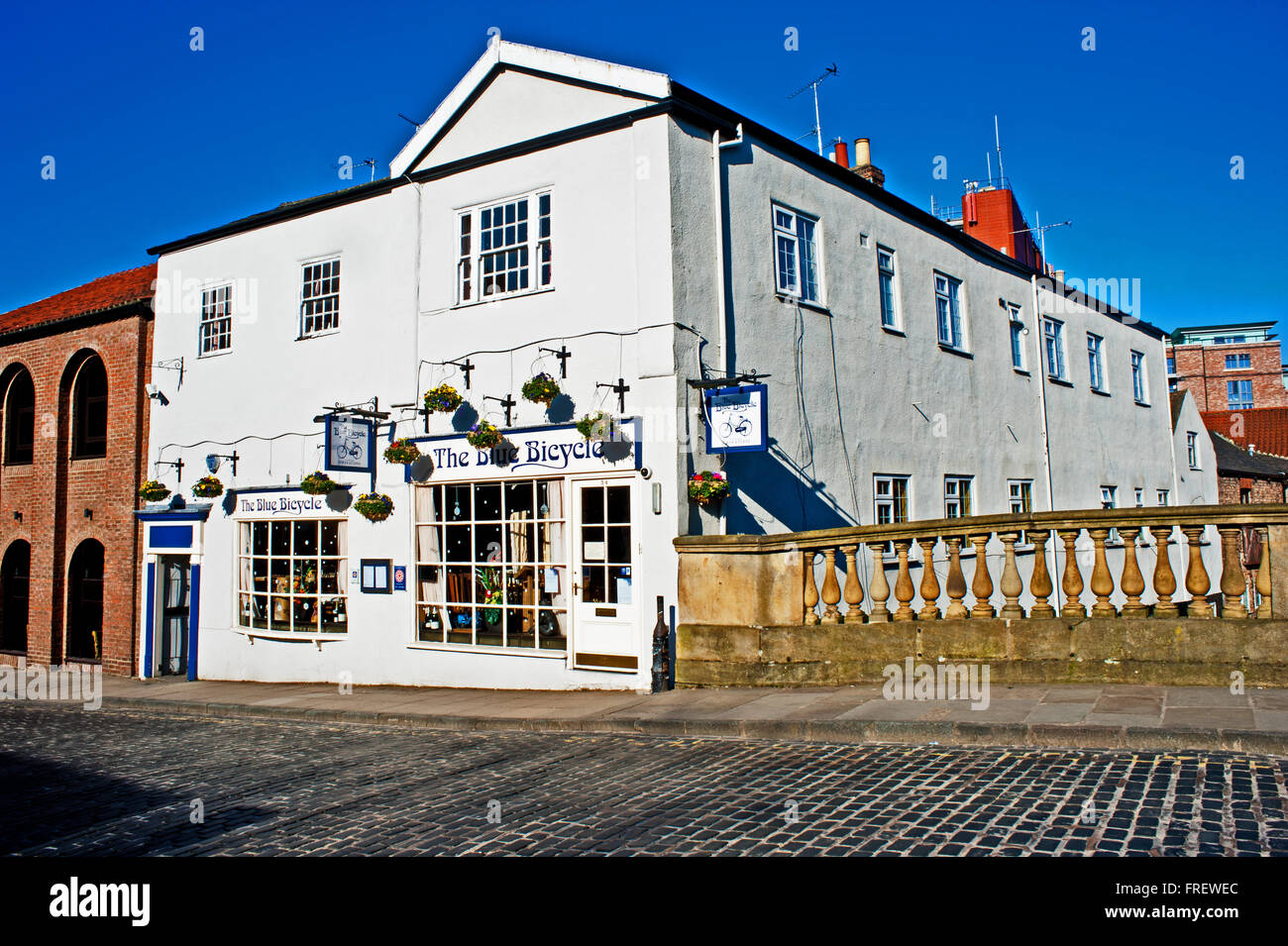 The Blue Bicycle, Fossgate, York - Stock Image
