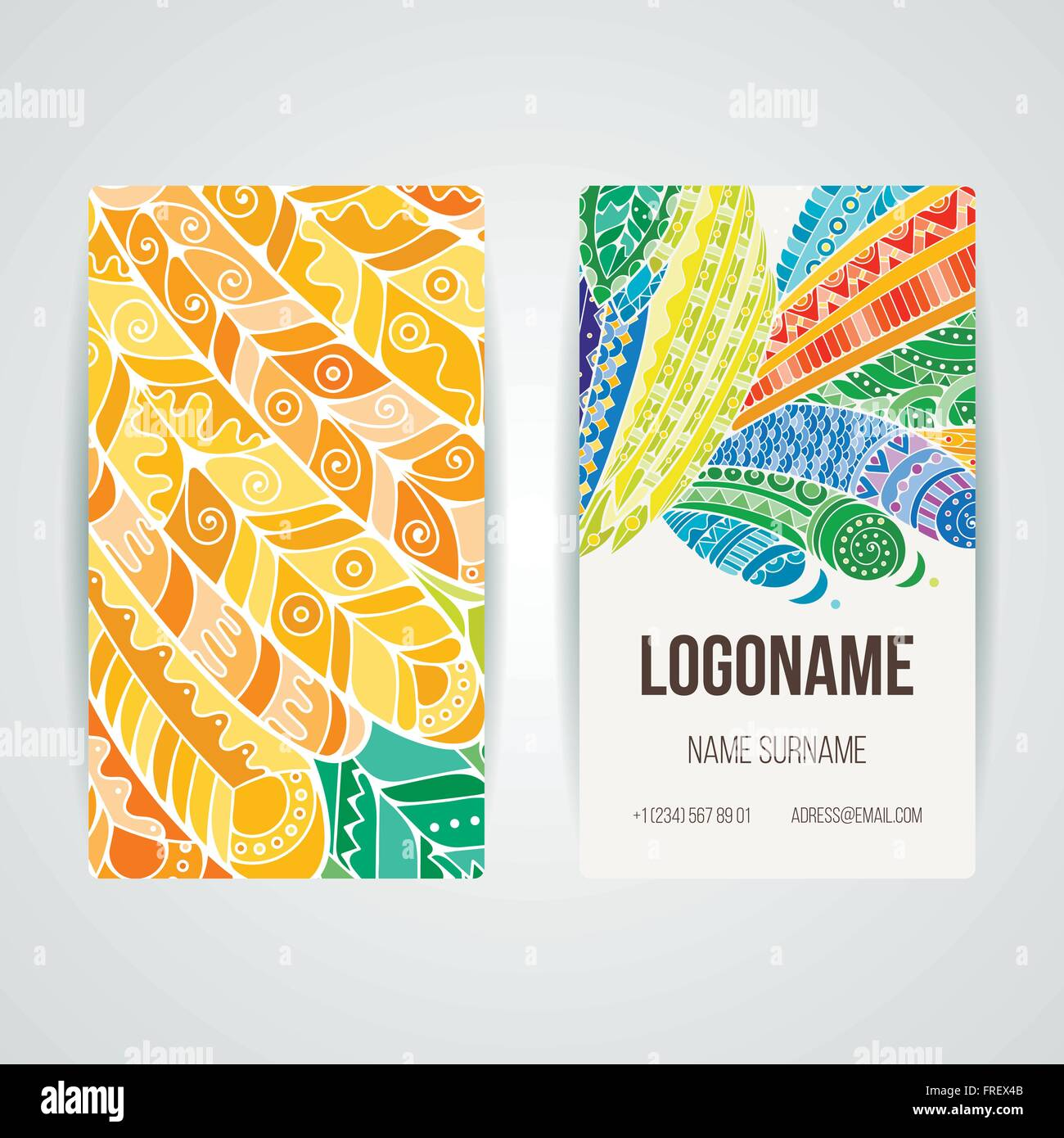 Set Of Vector Design Templates Brochures In Random Colorful Style