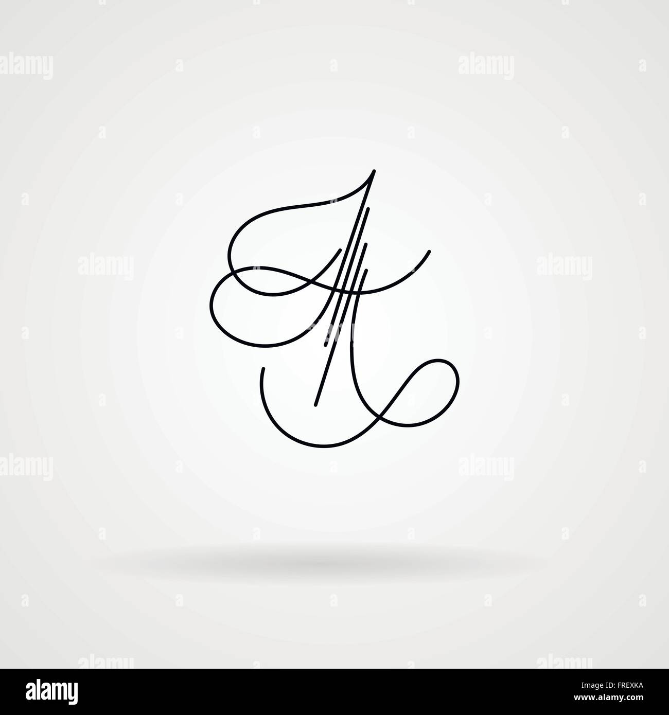 Signature For A Letter from c8.alamy.com
