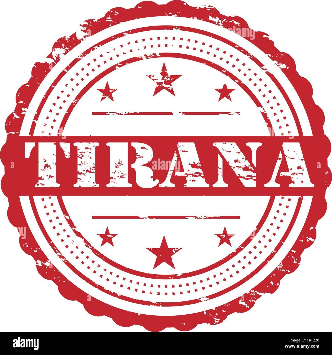 Tirana City Grunge Stamp Symbol - Stock Vector