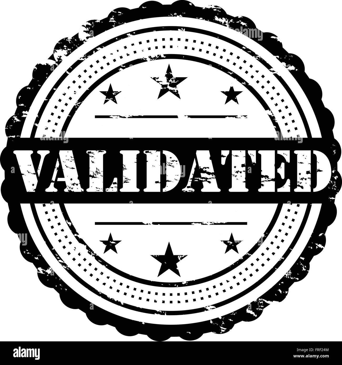 Validated Grunge Stamp Symbol