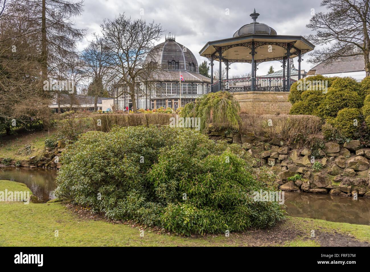 The Pavillion gardens, Buxton, High Peak Derbyshire. North West ...