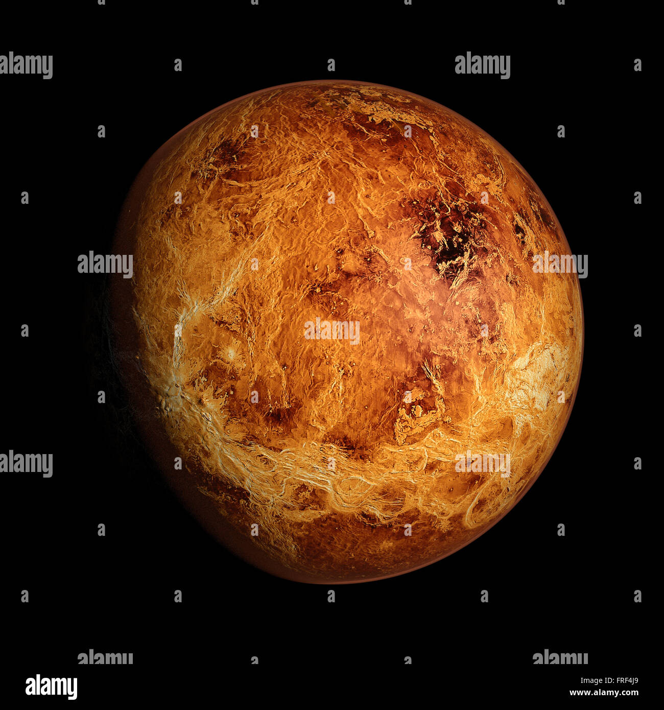 Venus Planet Solar System space isolated illustration - Stock Image
