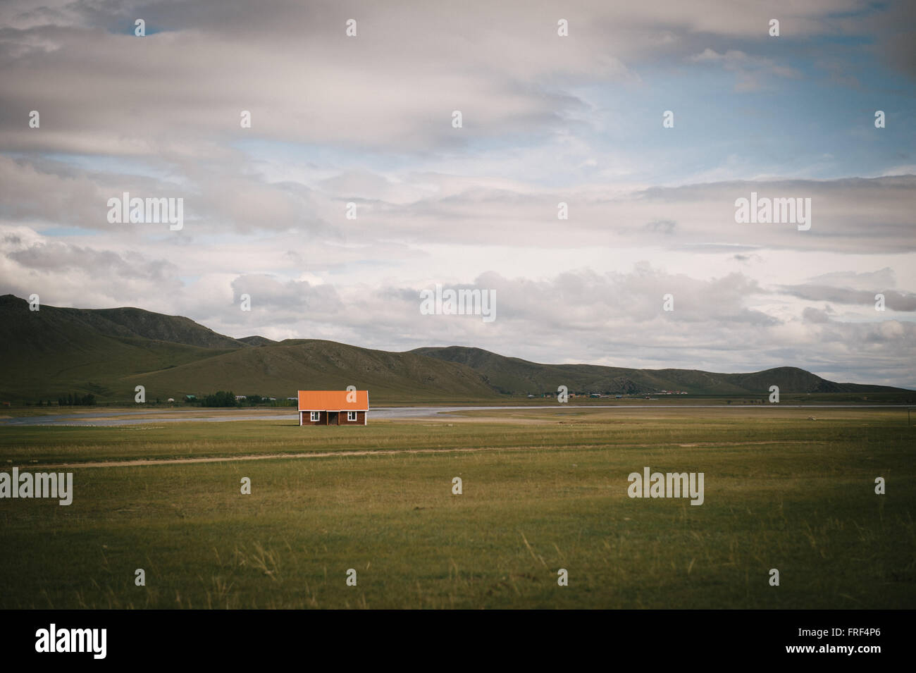 Superb A Solitary Home On The Mongolian Steppe Stock Photo Download Free Architecture Designs Scobabritishbridgeorg