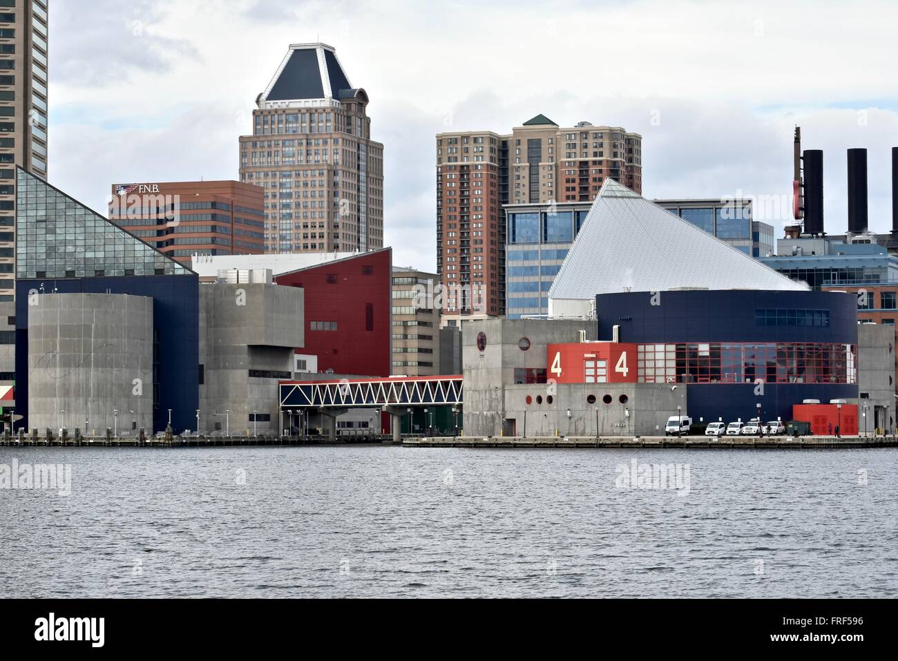 The National Aquarium at the Baltimore inner harbor - Stock Image