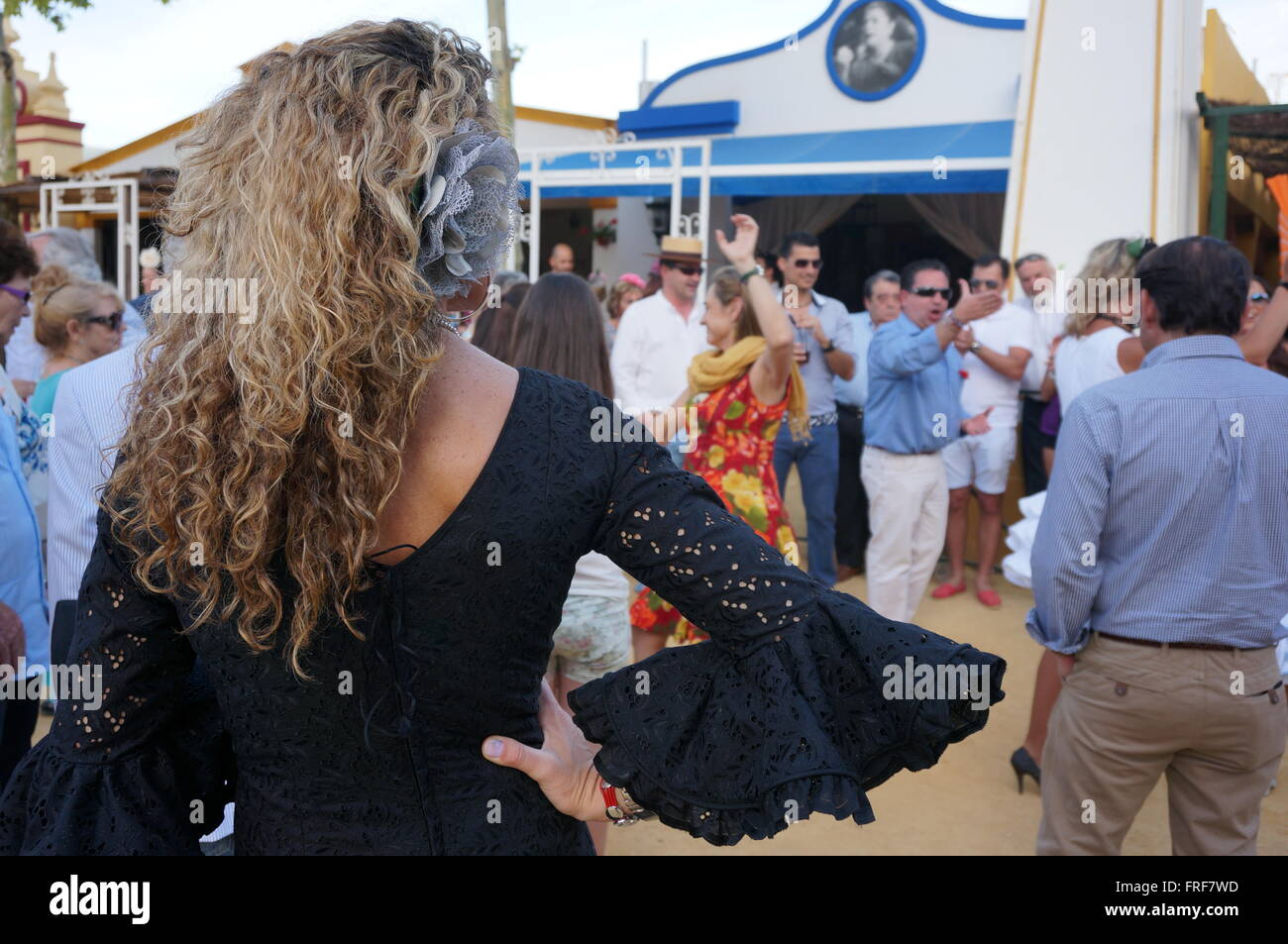 Andalucian Women during the Feria in Jerez -  10/05/2013  -  Spain / Andalusia / Jerez de la Frontera  -  Women - Stock Image