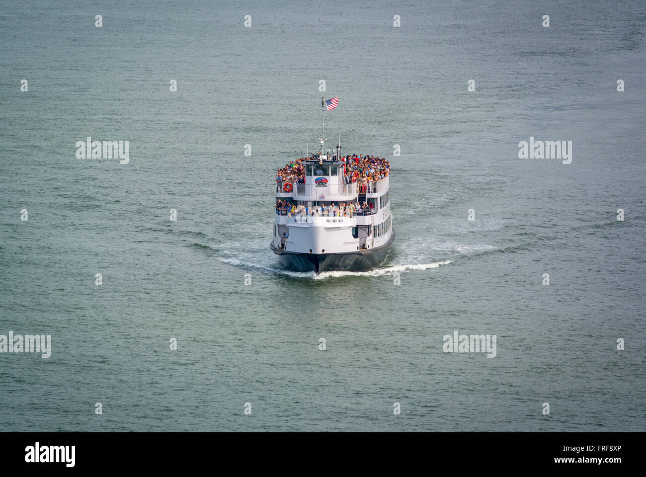 Statue Cruises tourist boat, New York, USA. - Stock Image