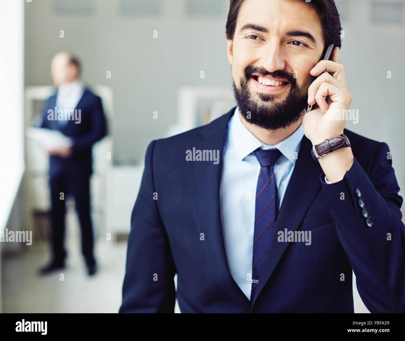 Calling businessman - Stock Image