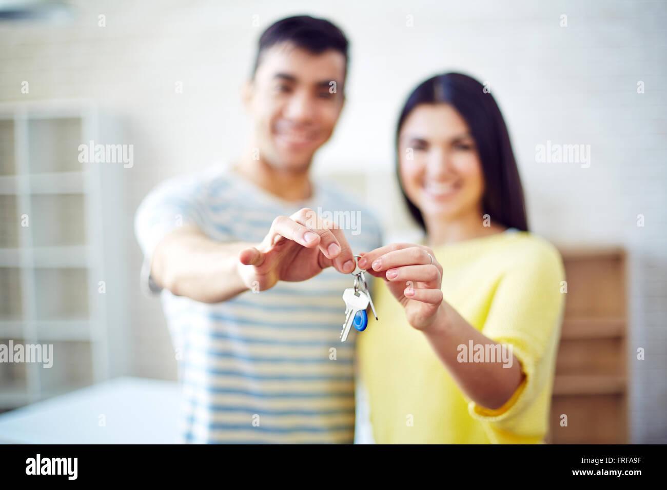 Keys from flat - Stock Image