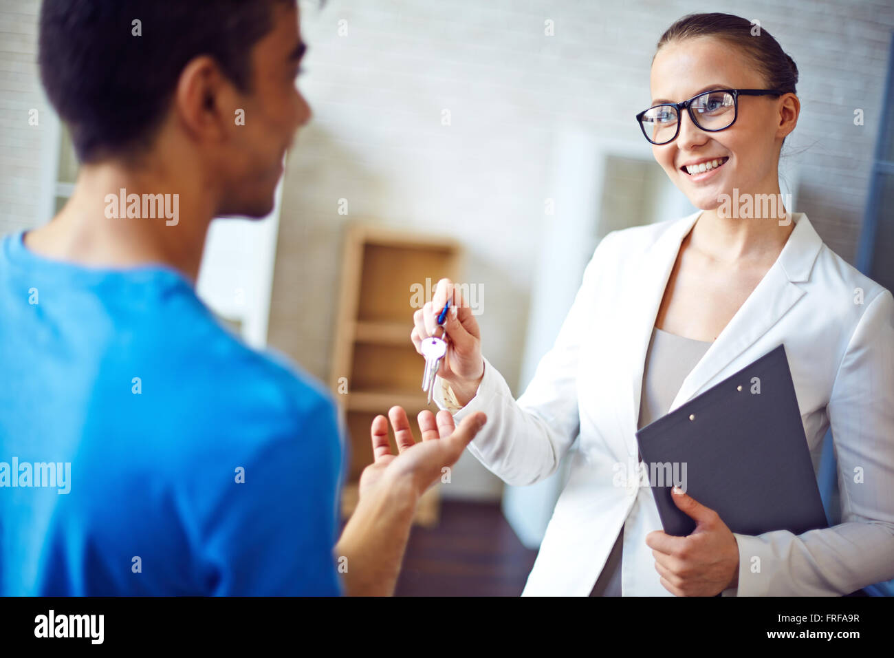 Welcome to your flat - Stock Image