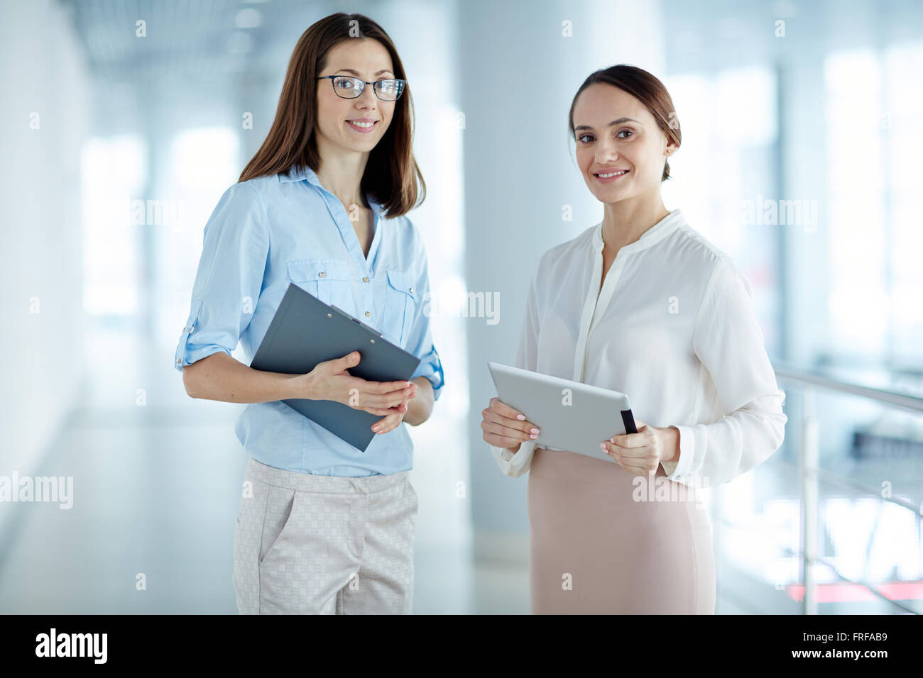 Pretty co-workers - Stock Image