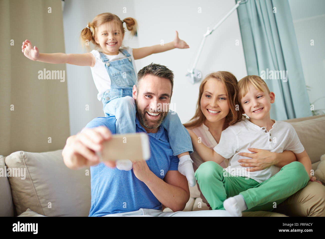 Selfie at home - Stock Image