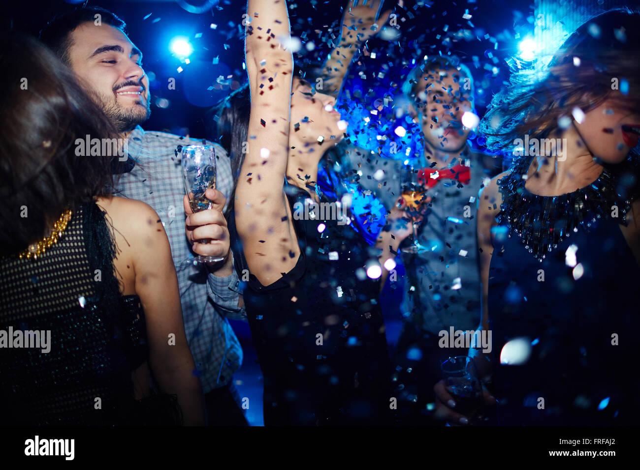 Energetic dancing - Stock Image