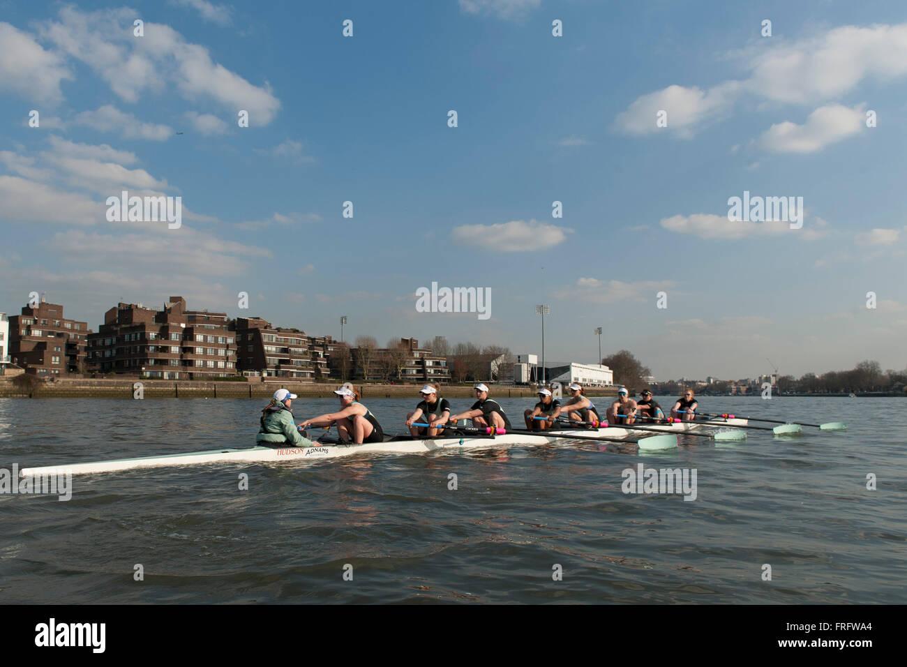 London, UK. 22nd March, 2016.    Stephen Bartholomew/Stephen Bartholomew Photography.  Tideway Week Media Outing. - Stock Image