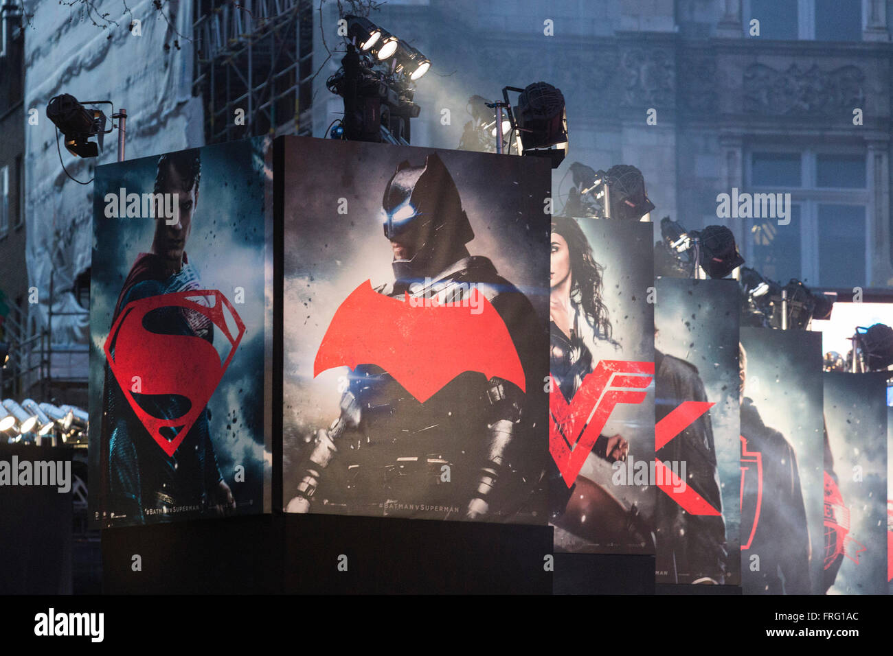 London, UK. 22 March 2016. Warner Bros. Pictures presents the European Premiere of Batman v Superman, Dawn of Justice. - Stock Image