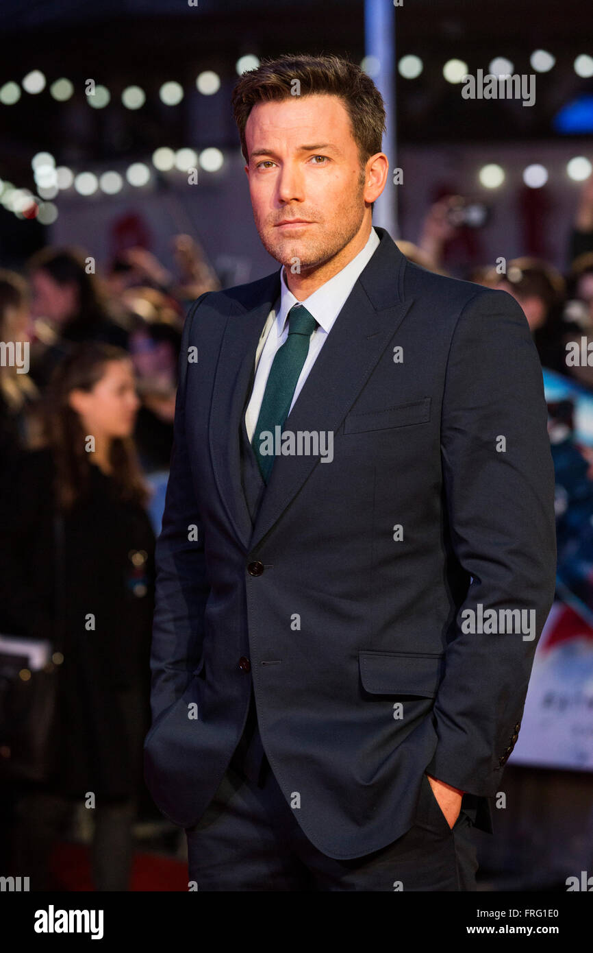 London, UK. 22 March 2016. Actor Ben Affleck (Bruce Wayne/Batman). Warner Bros. Pictures presents the European Premiere - Stock Image