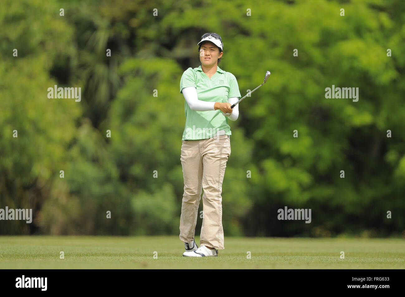 Longwood, Florida, USA. 31st Mar, 2014. Yueer Cindy Feng during the final round of the IOA Golf Classic at Alaqua - Stock Image