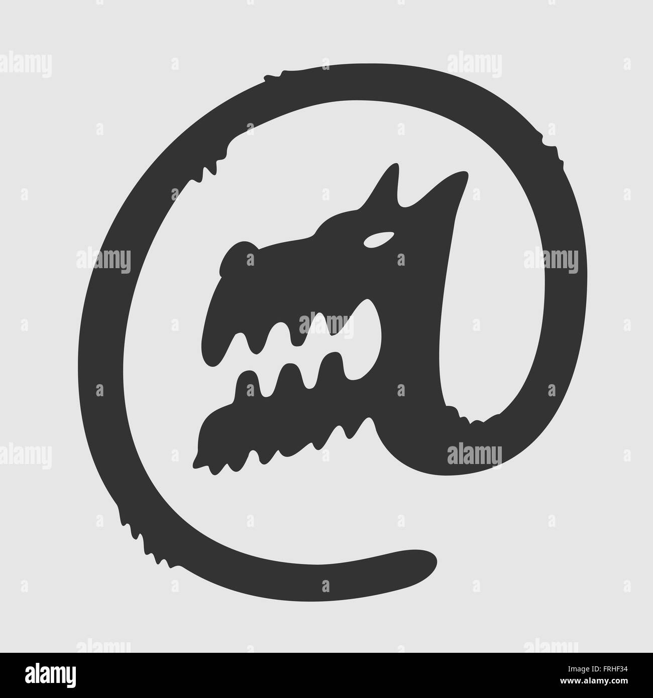 Vector Symbol Dog Postal - Stock Image