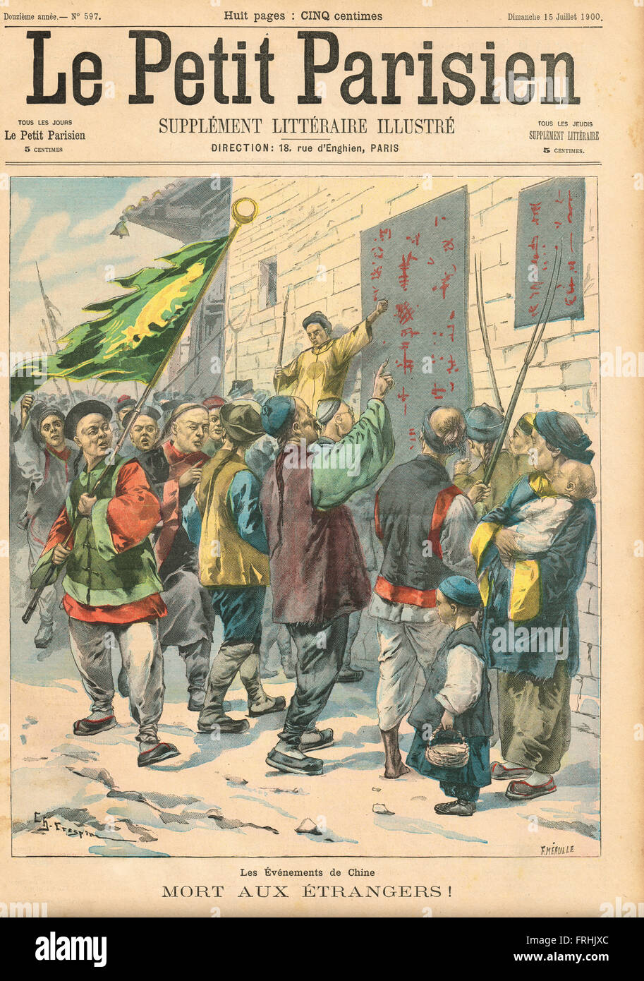 Death to Foreigners! Boxer Rebellion China 1900 - Stock Image