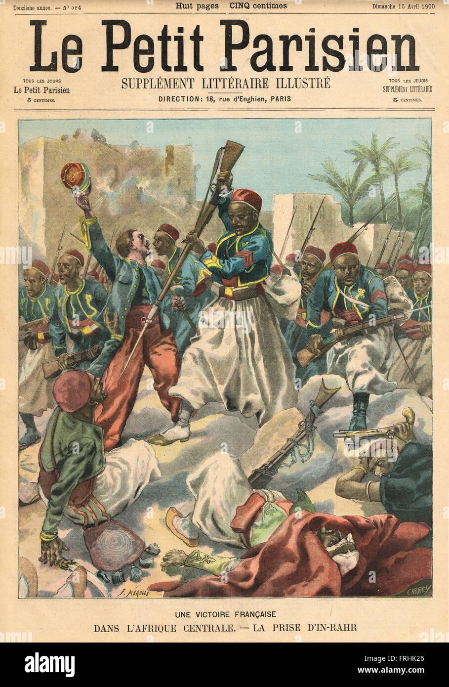 Battle of In-Rahr Algeria Africa 1900 - Stock Image