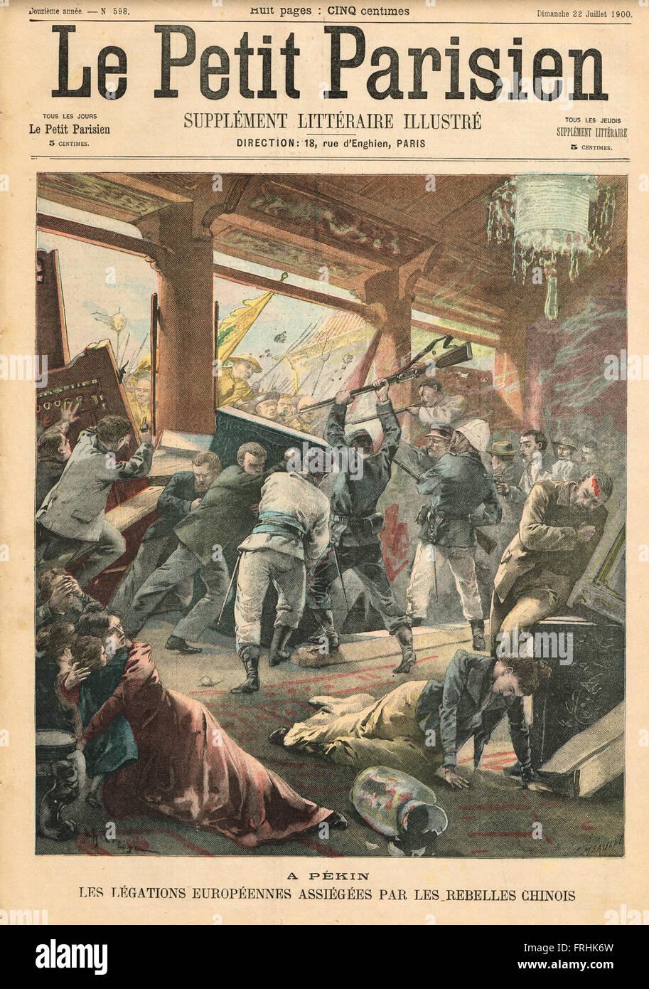 Siege of the legations Peking (Beijing) China 1900 - Stock Image