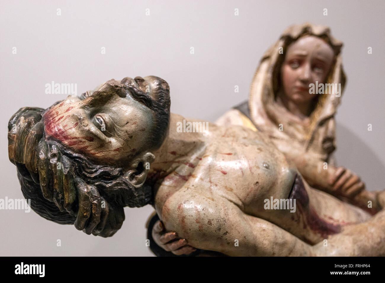 Piedad, anonymous German author in  National Sculpture Museum, Museo Nacional de San Gregorio, Valladolid, Spain - Stock Image
