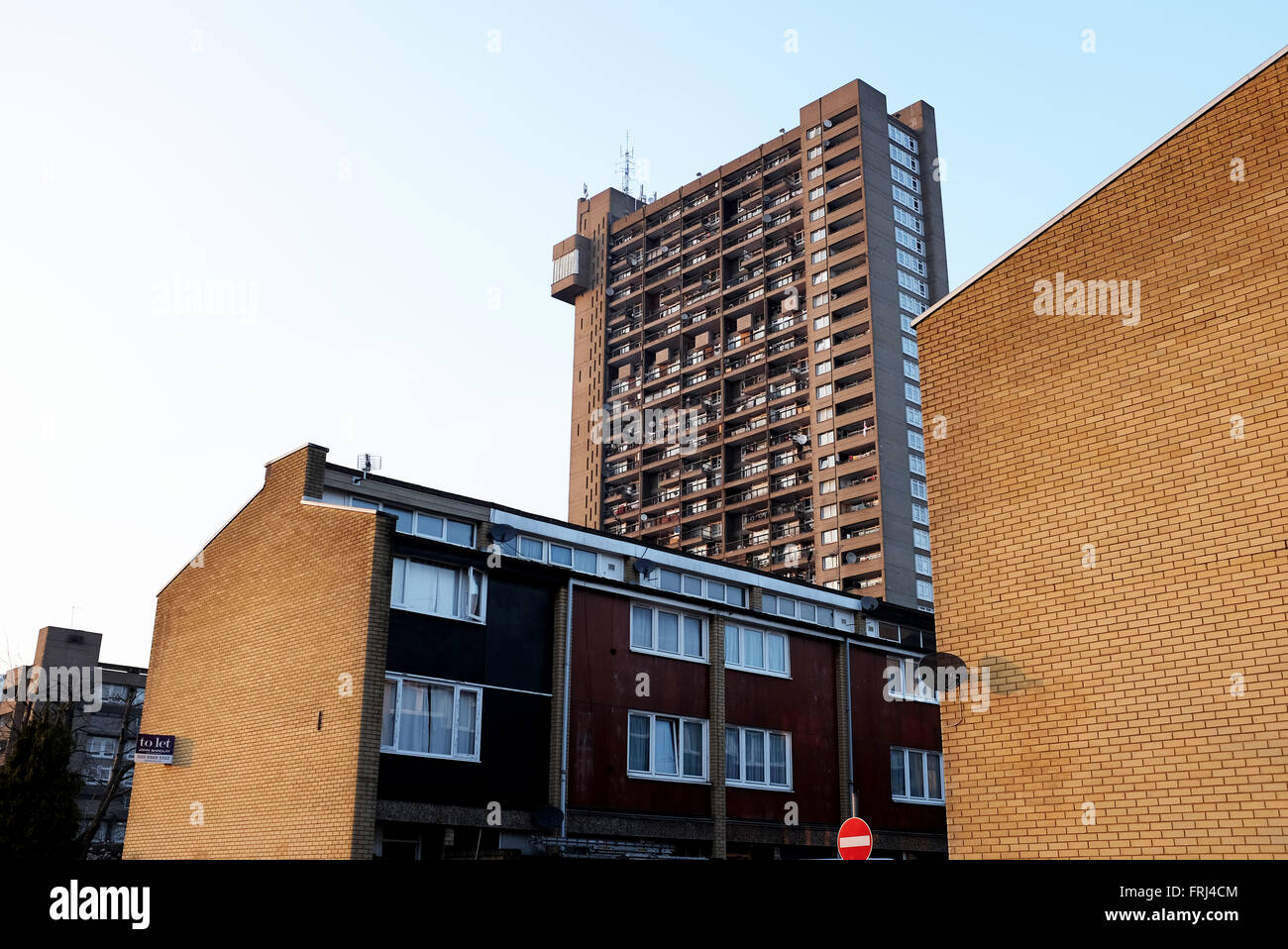 High rise council flats in Westbourne Green and Ladbroke Grove area of London UK Stock Photo