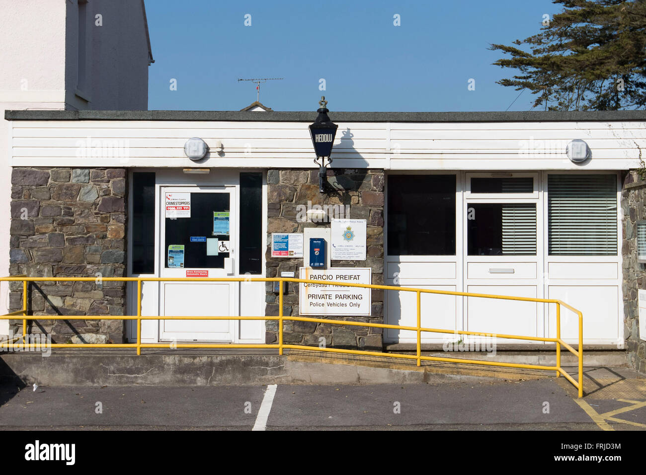 Police station in St. David's, Pembrokeshire, West Wales. - Stock Image