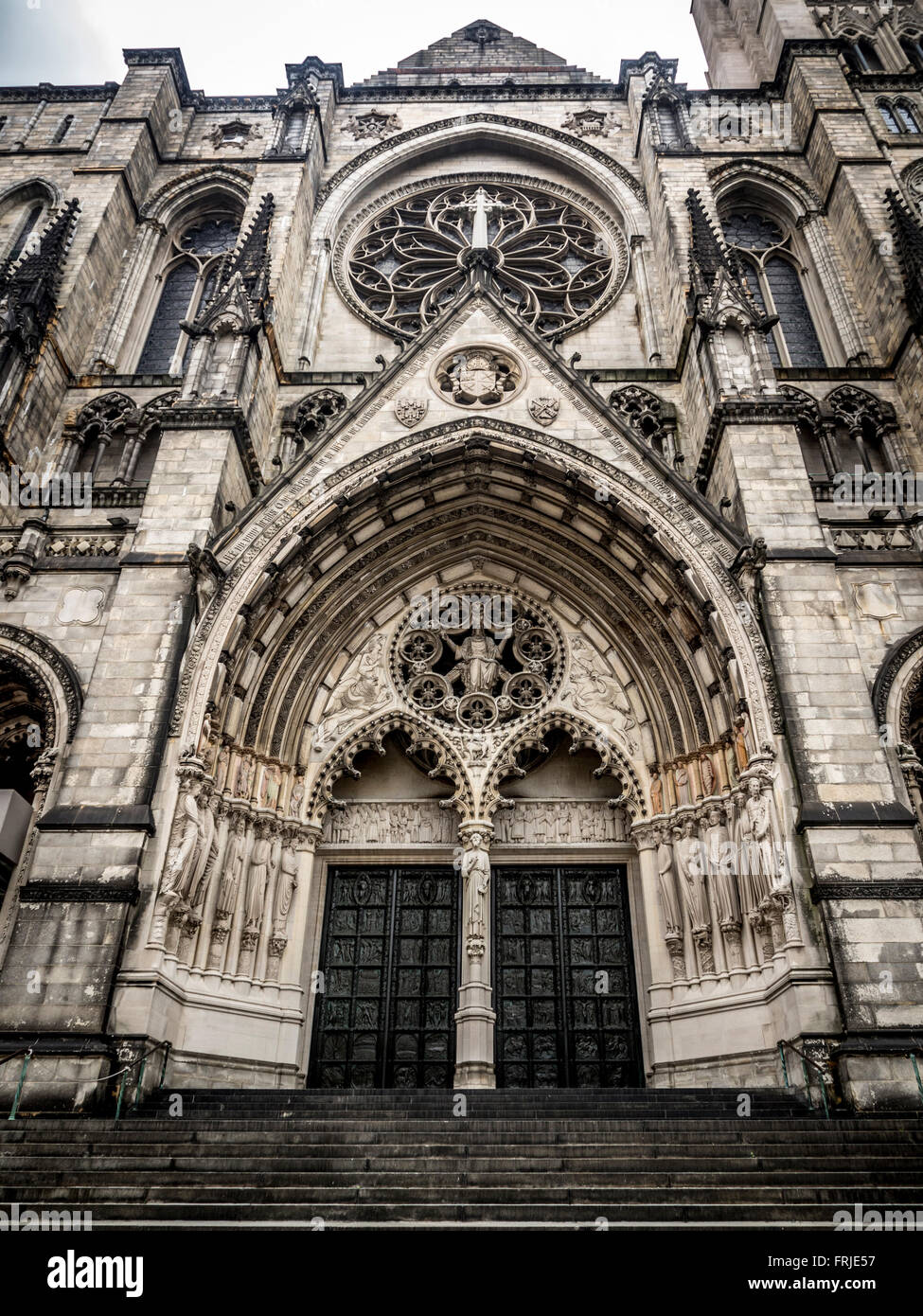 Cathedral Church of Saint John the Divine, New York City, USA. - Stock Image