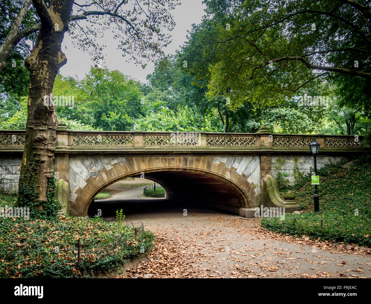 Greyshot Arch, Central Park, West Side between 61st and 62nd Streets. New York City, USA. - Stock Image