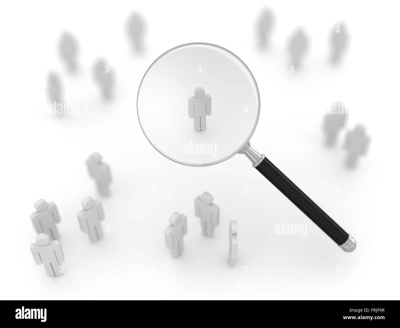 Search man , This is a computer generated and 3d rendered picture. - Stock Image