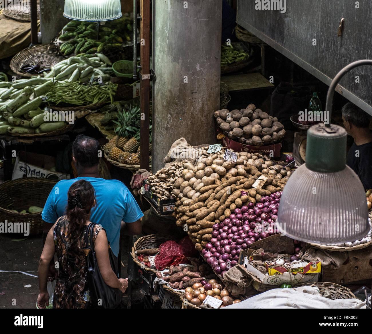 Port Louis Market Stock Photo