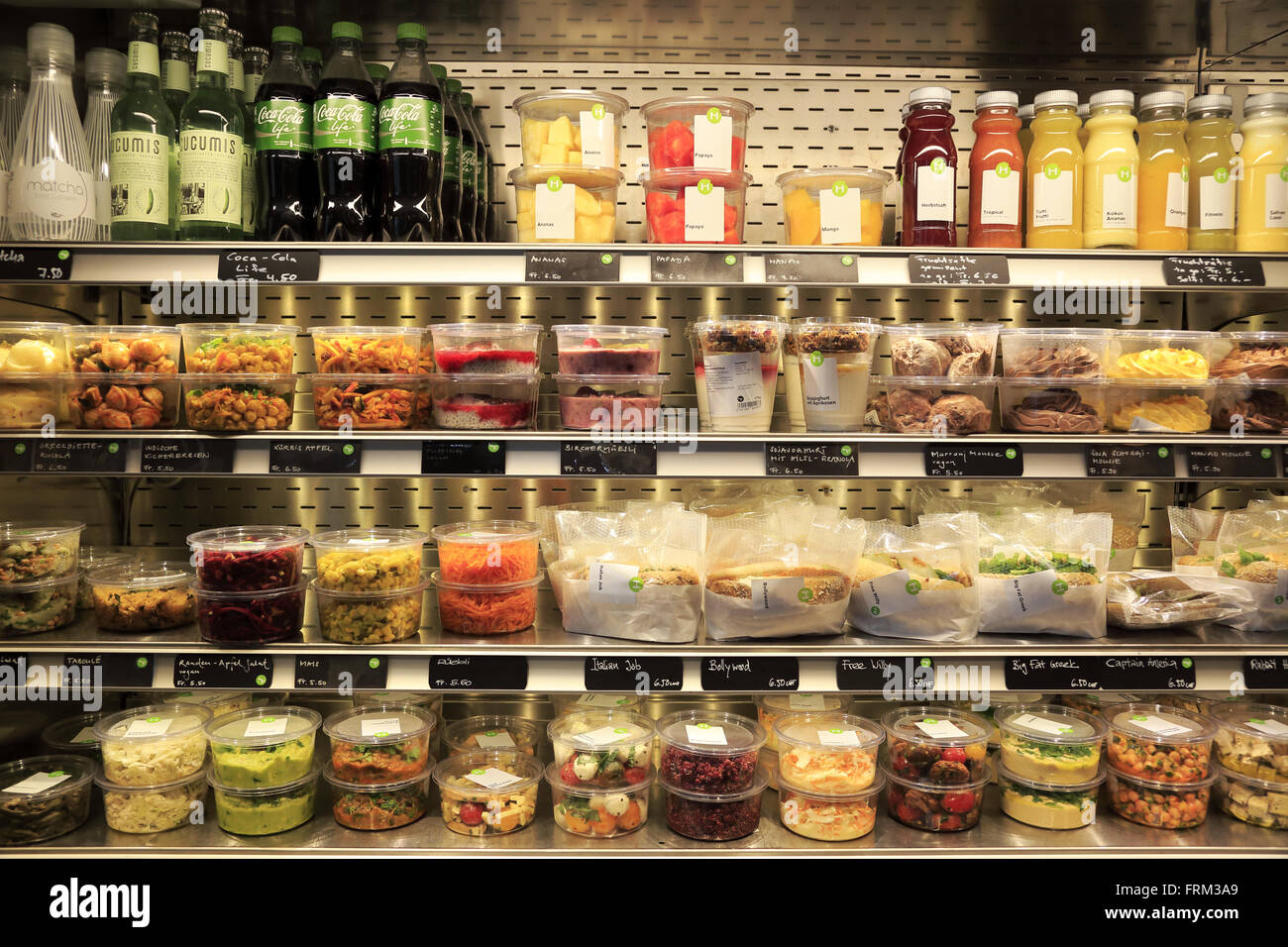 Healthy food products for sale in HILTL restaurant store