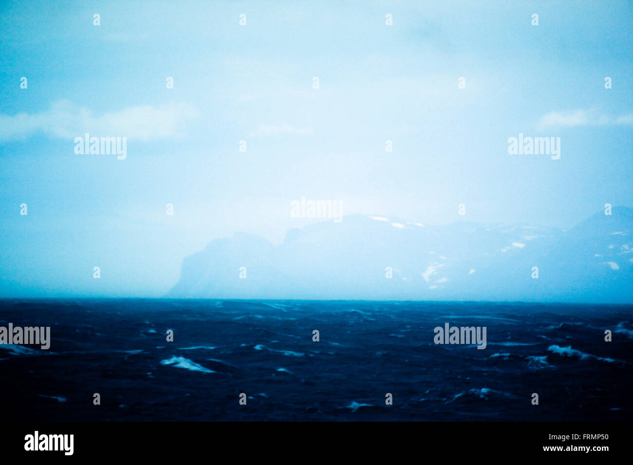 The westcoast of Greenland in bad weather Stock Photo: 100645356 - Alamy