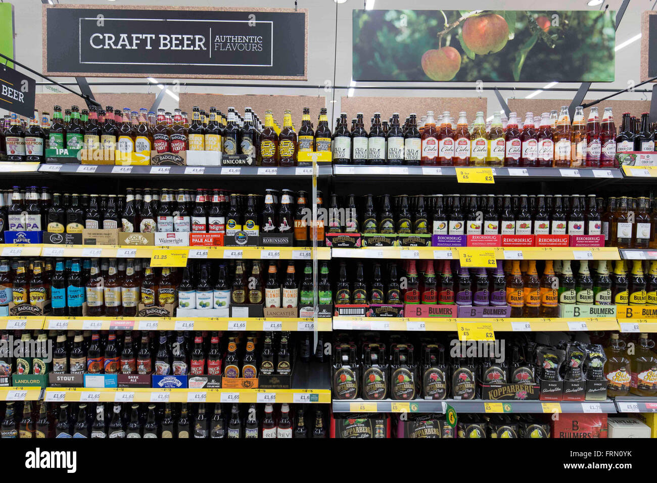 beer store prices craft and ales on in a morrisons supermarket 10097