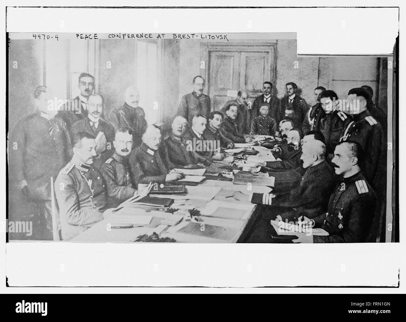 Peace Conference at Brest-Litovsk - Stock Image