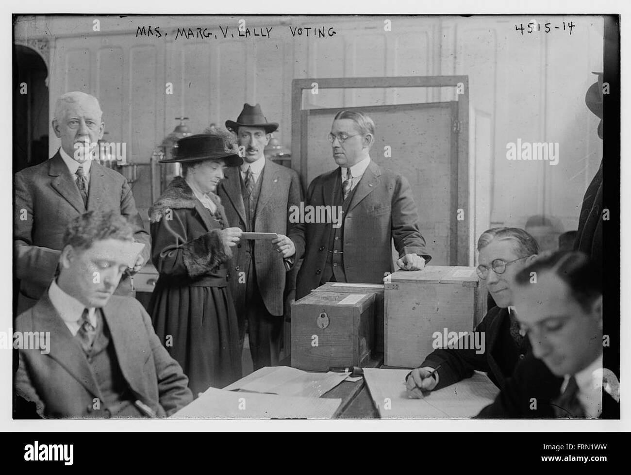 Mrs Marg V Lally voting - Stock Image