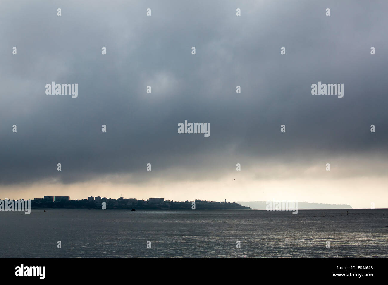 Rain clouds clearing over Saint-Georges-de-Didonne - Stock Image