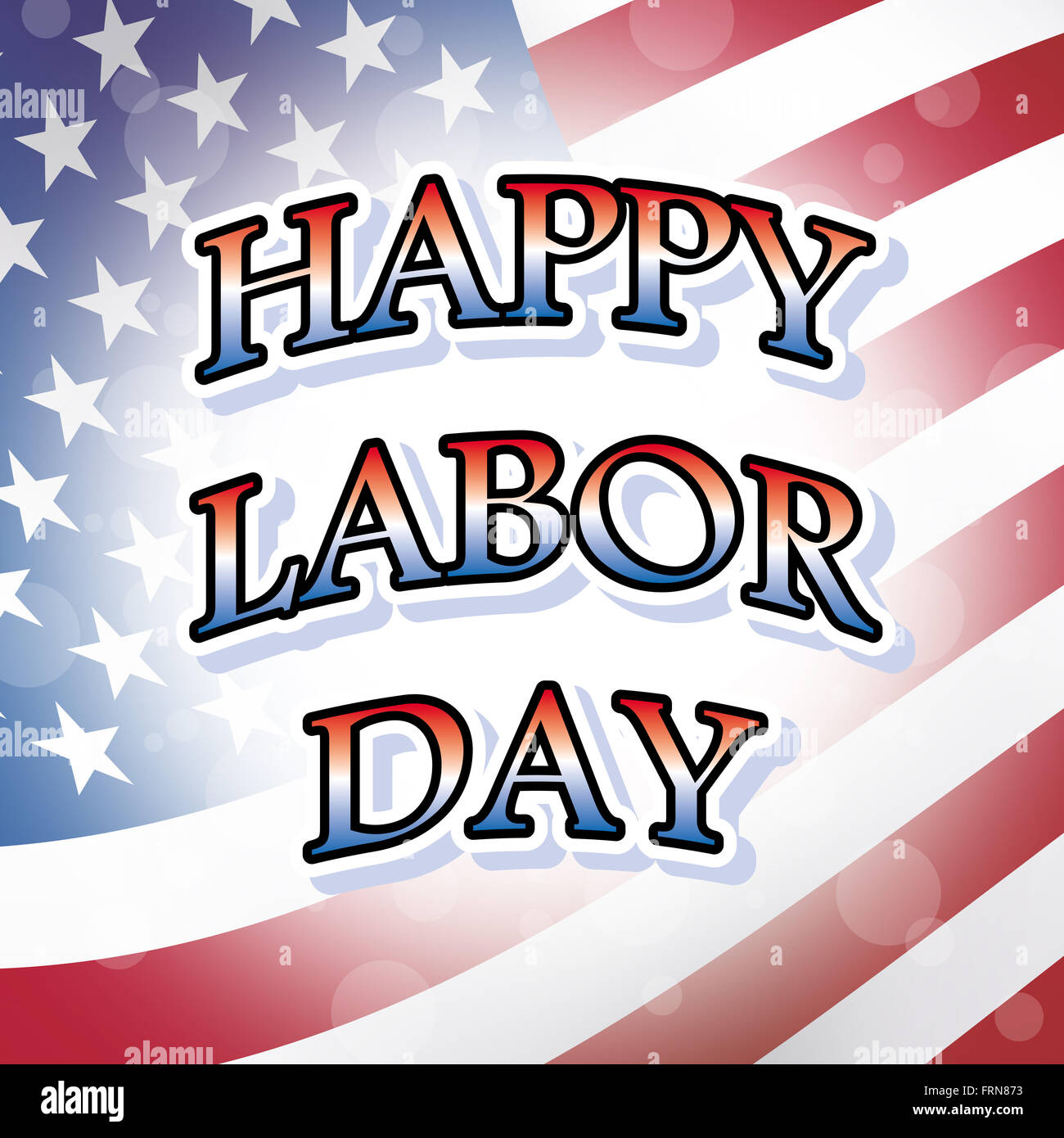 Happy labor day stock photos happy labor day stock images alamy happy labor day usa greeting card with american flag background stock image m4hsunfo