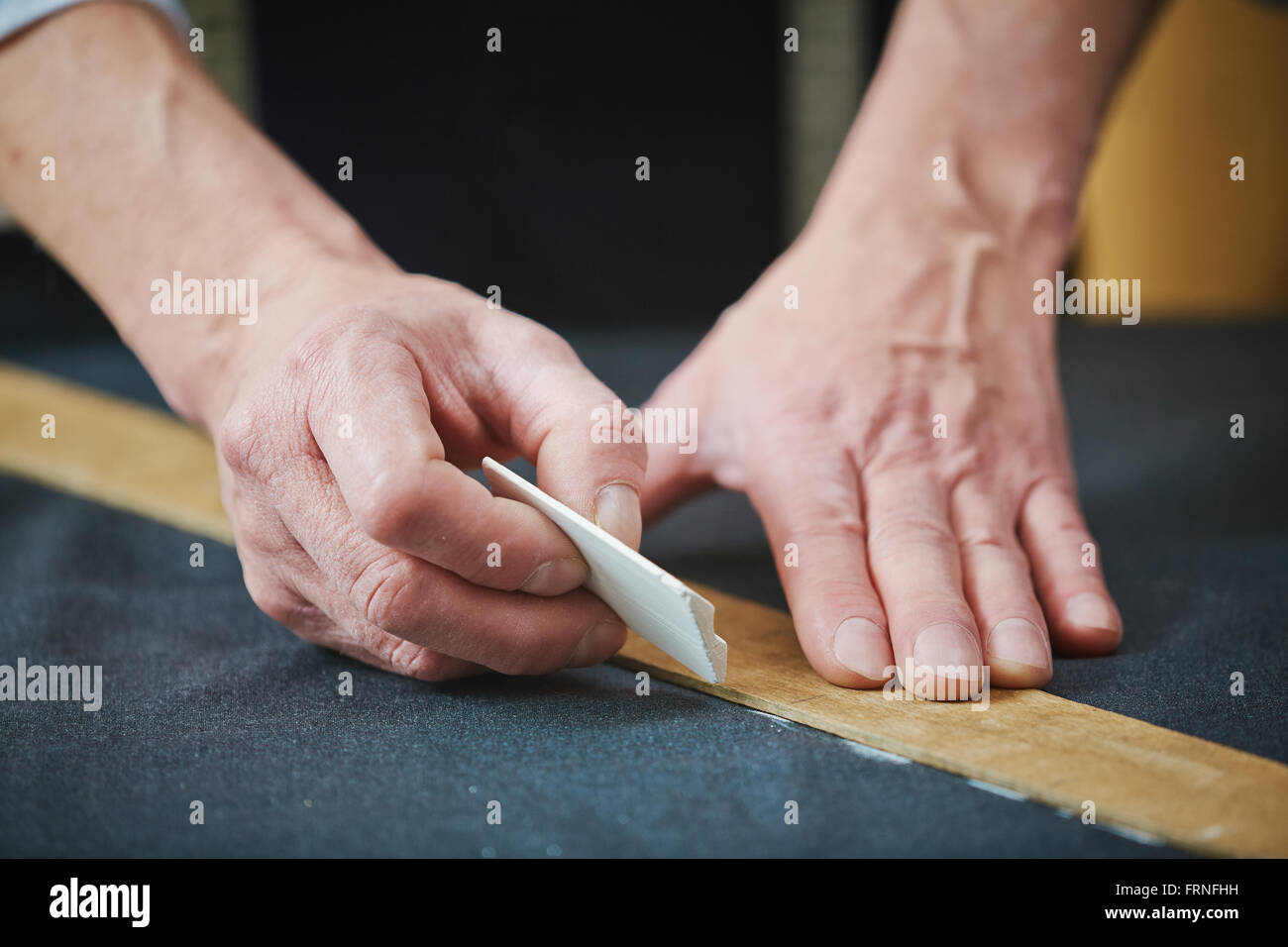 Drawing dotted line - Stock Image