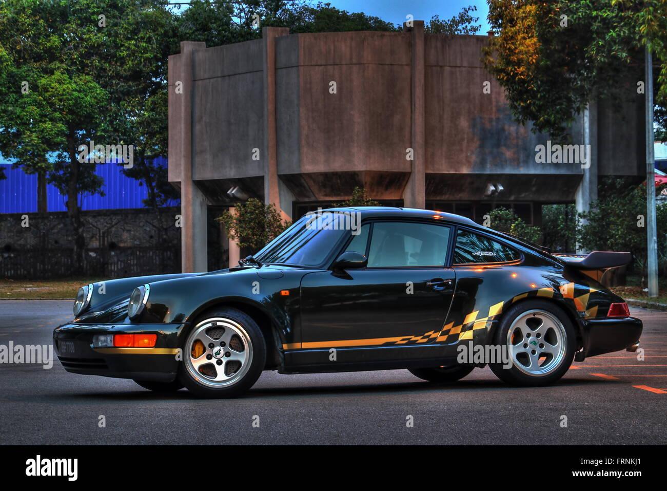 Porsche 911 Turbo - Twilight Stock Photo