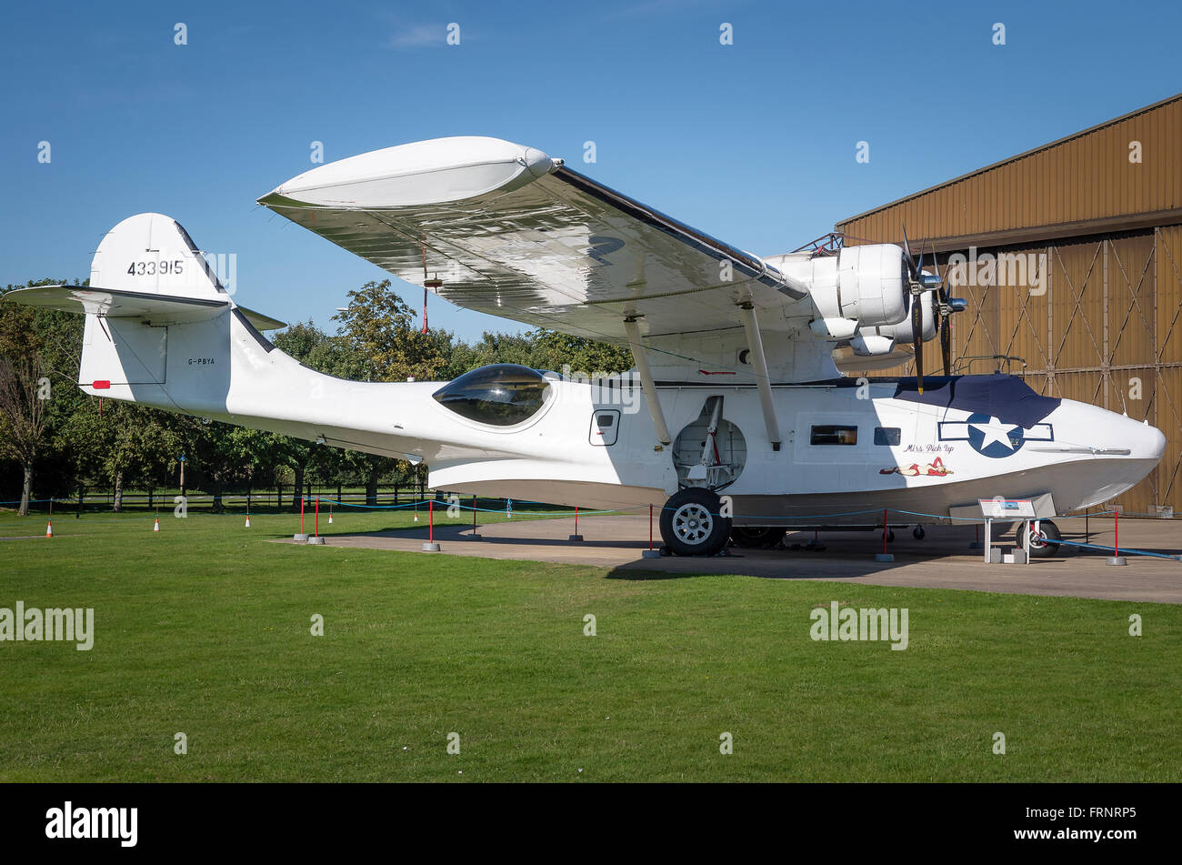Consolidated Catalina aircraft from the 1940s - Stock Image