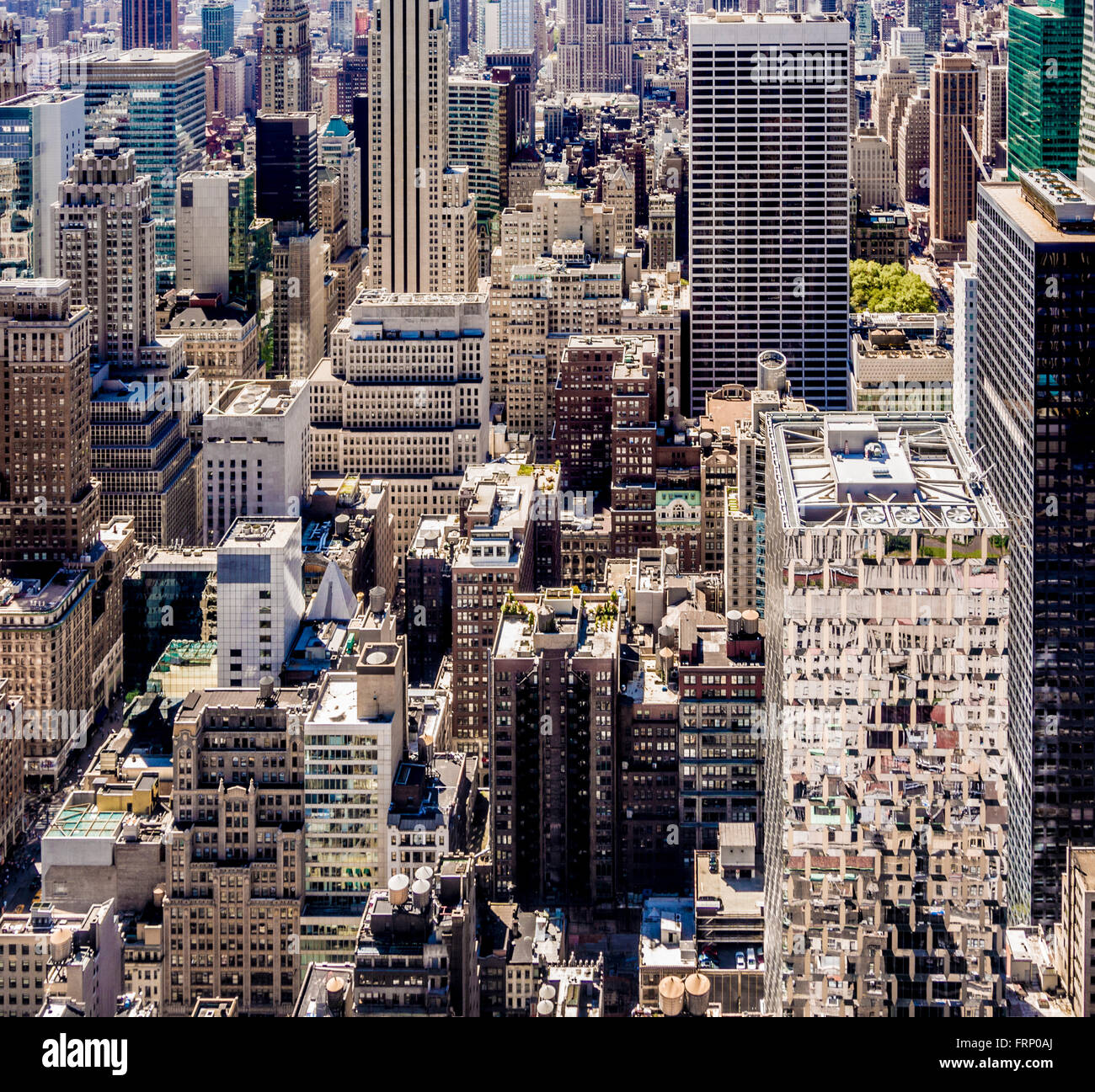 New York City buildings, USA. - Stock Image