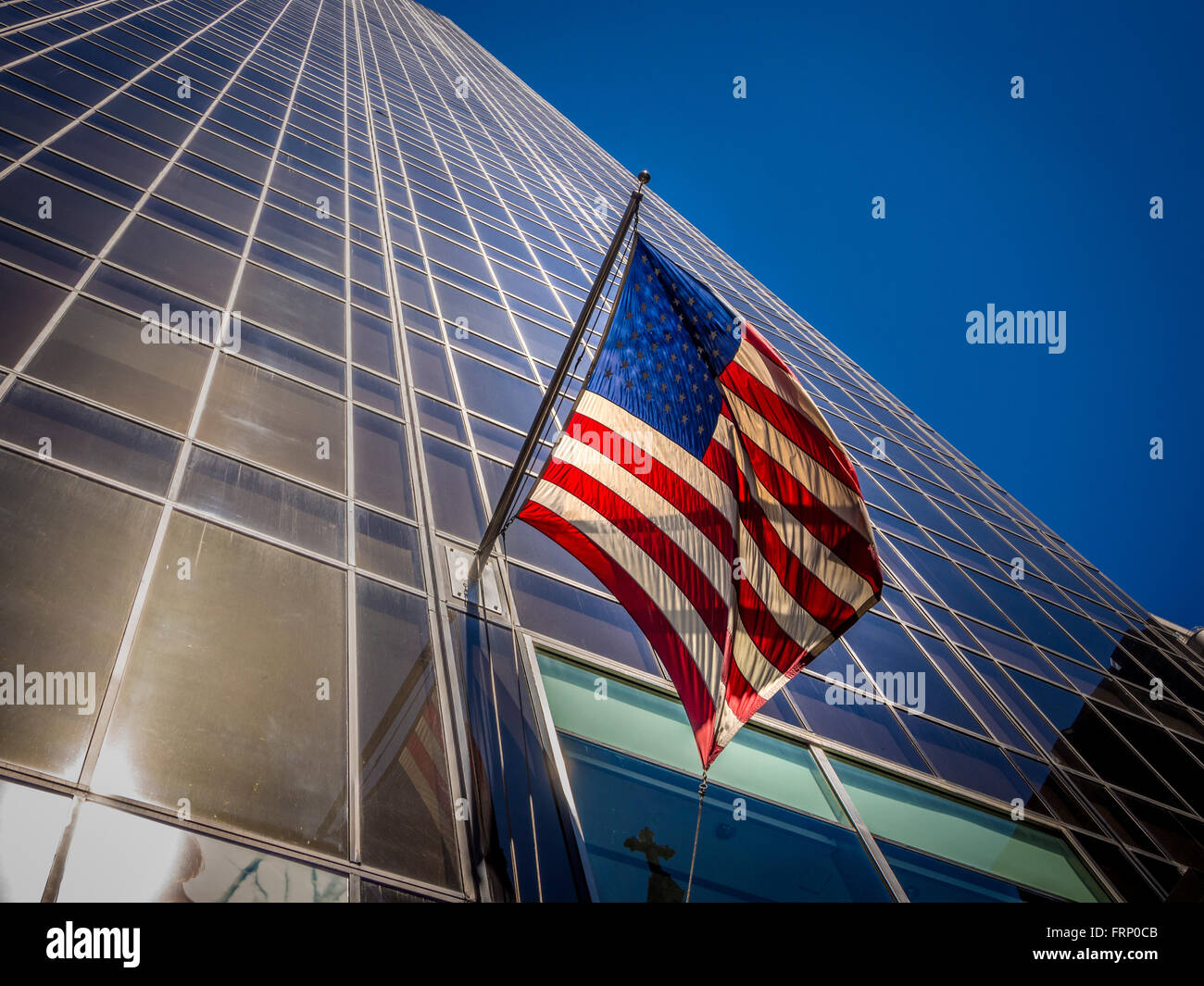 Stars and Stripes American Flag, New York City, USA. - Stock Image