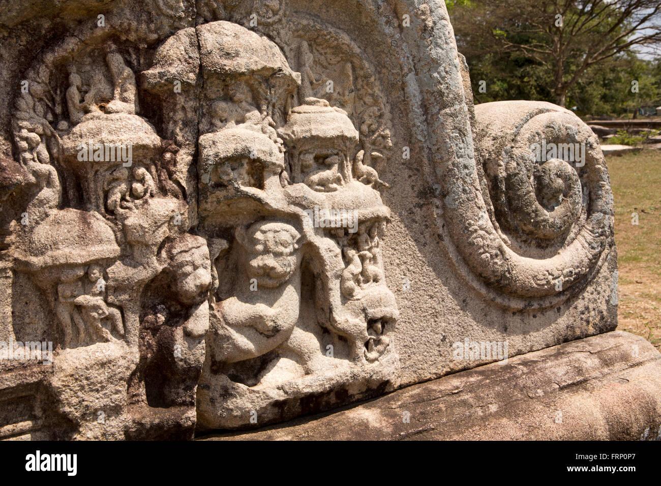 Sri lanka anuradhapura thuparamaya carved stone at