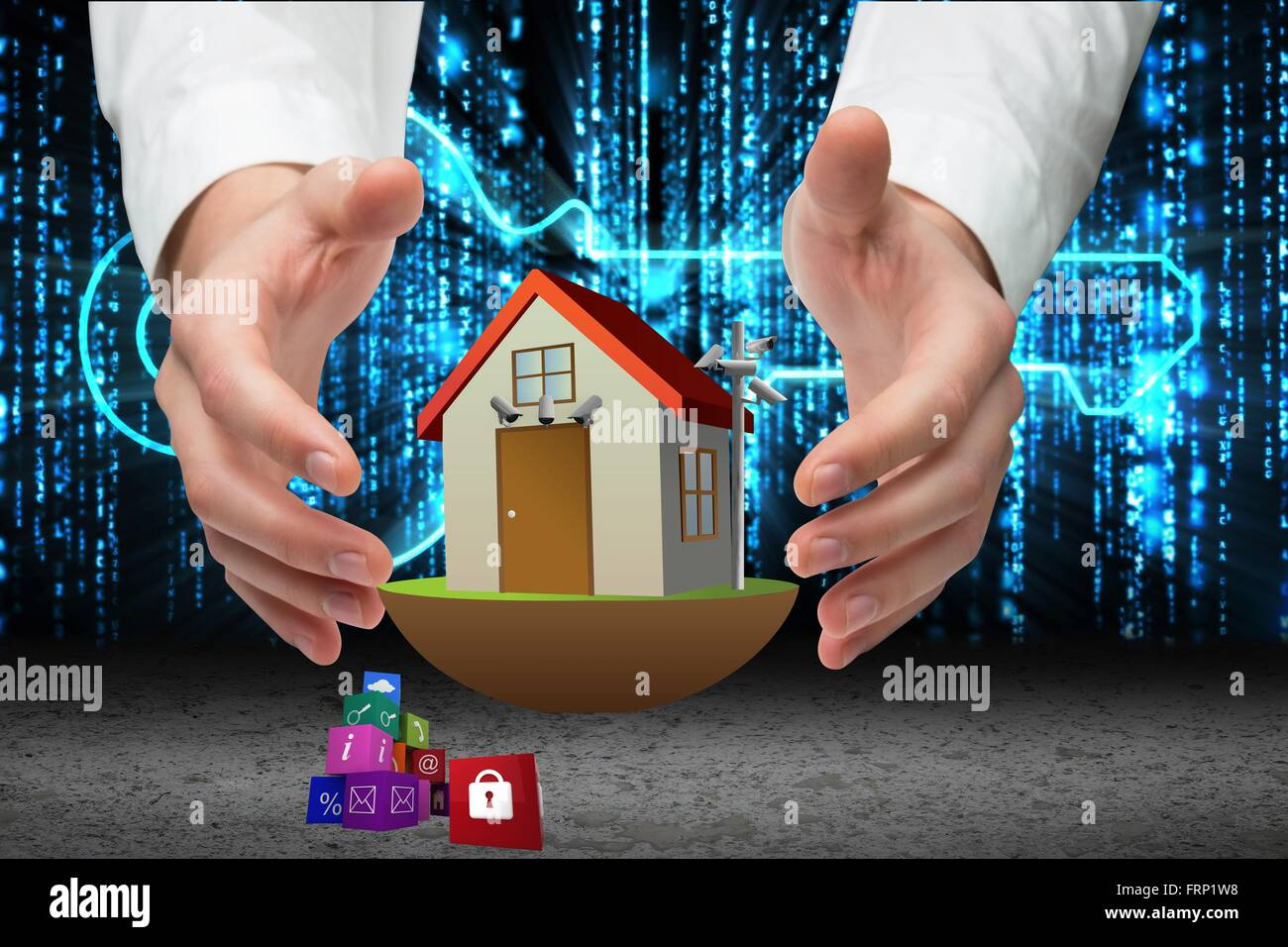 CCTV cameras controlling home security - Stock Image