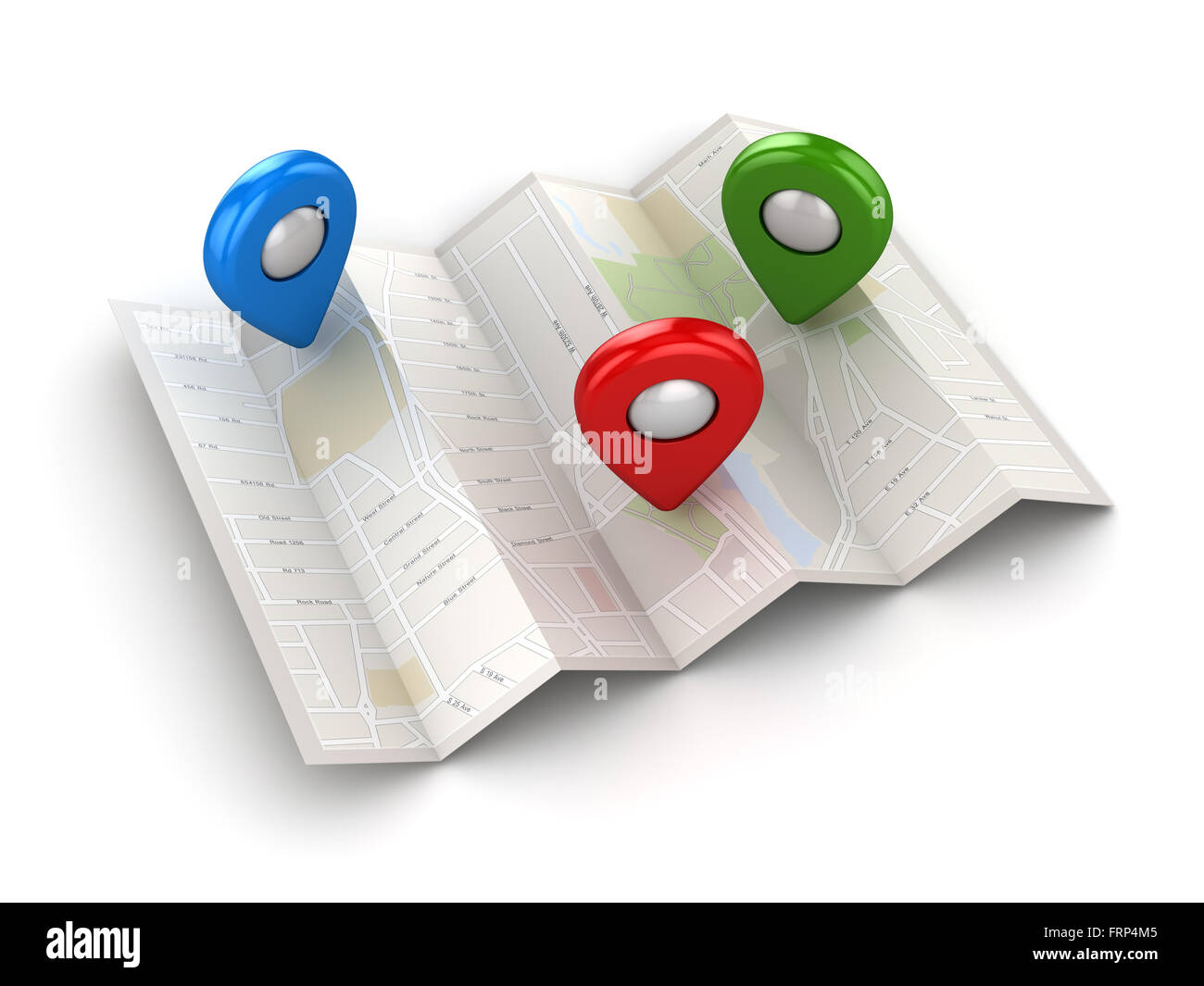 GPS navigation concept , This is a computer generated and 3d rendered picture. - Stock Image