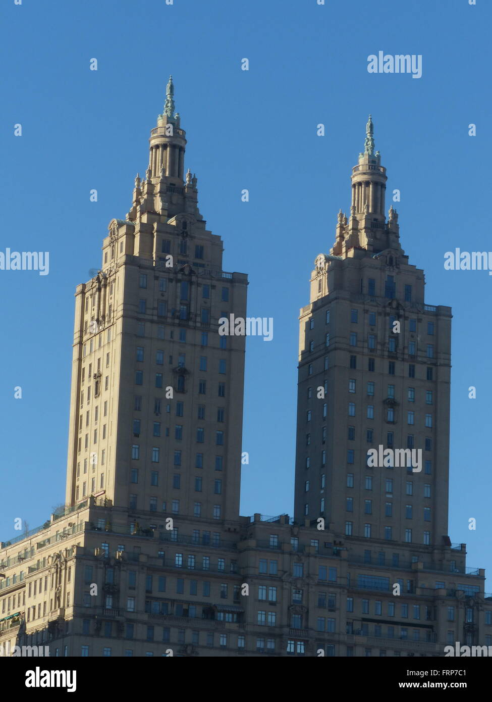 The San Remo Building built in Art Deco style on Central Park West in Manhattan - Stock Image