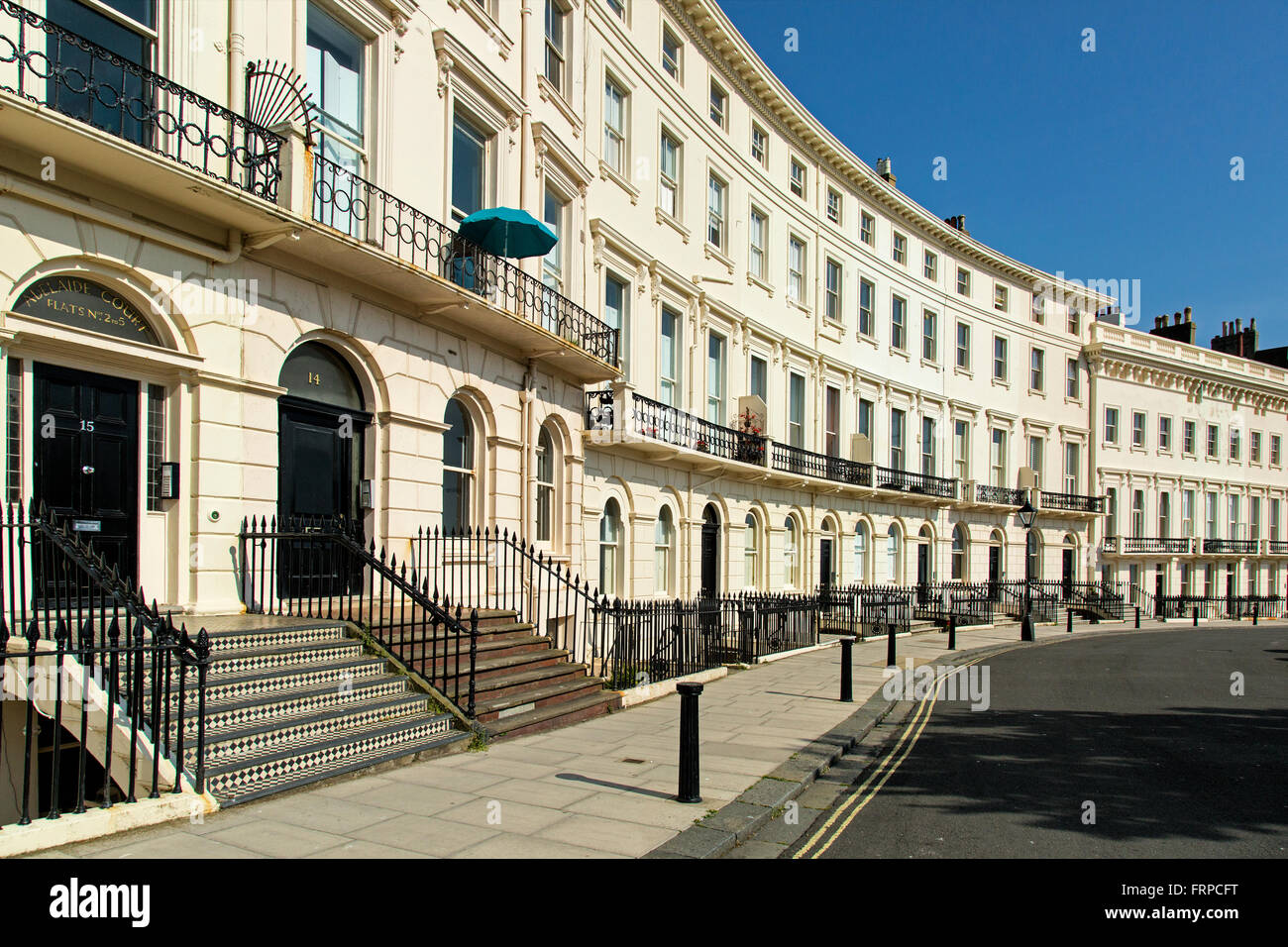 Terraced homes in Brighton and Hove, UK Stock Photo