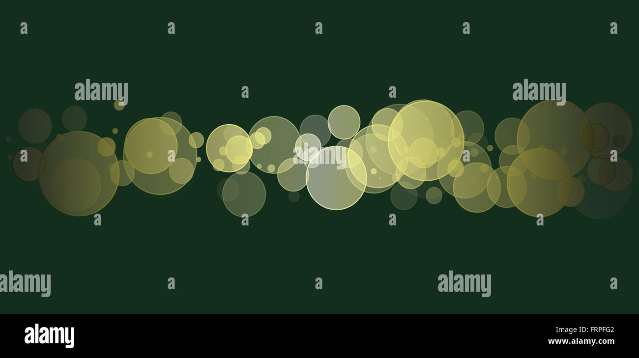Colorful Bokeh Glitter Discs Banner Background - Stock Image